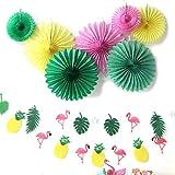 SUNBEAUTY Sommer Party Dekoration Kit Flamingo Ananas Hawaii Tropische Deko - 5