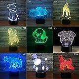 Luz de Cachorro de Perro con una Variedad de Botes de caída de Efecto de Cambio Remoto de Color táctil