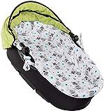 RS-Italy - Juego para cochecito de bebé fabricado en la UE - Compuesto de colchón, capazo, desenfundable, 75 x 34 x 2,5 cm + funda para capazo de bebé Orsi Stelle