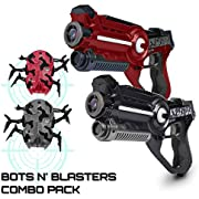 USA Toyz Laser Tag Multiplayer Games - Space Blaster Laser Tag Gun Set, Laser Tag Guns, Lazer Tag for Kids w/ Target Practice Bots (2pk Black/Red)