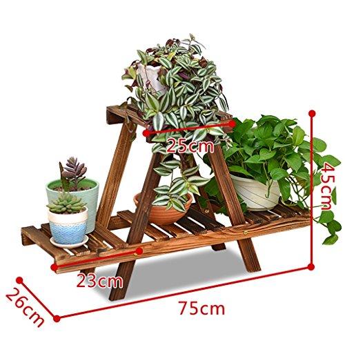 Rack de plantes intérieures, étagère en bois de fleurs de loisirs, 5 étagères, étagère à fleurs à plusieurs étages45 * 75cm ( Couleur : Marron )