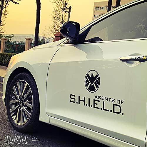 BAIMENG Pegatina de coche de Marvel S.H.I.E.L.D. Agent Car Sticker Creative Iron Man Car Sticker ocultamiento negro 2 piezas