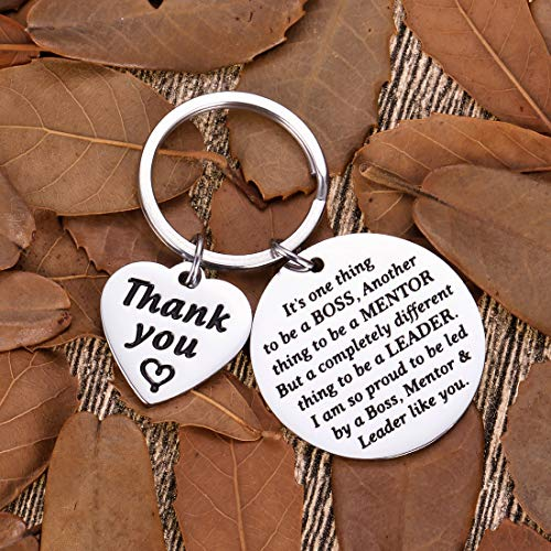 Boss Gifts for Christmas Men Women Office Keychain Appreciation Gifts for Supervisor Mentor Leader Birthday Thank You Leaving Going Away Gifts Retirement Coworker Boss Lady Goodbye Presents