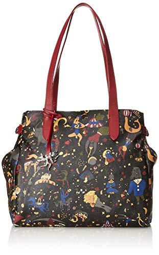 piero guidi Tote Bag, Borsa a Mano Donna, Nero (Prugna), 34x30x17 cm (W x H x L)