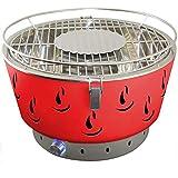 ACTIVA Parrilla de Mesa Parrilla de carbón de Acero Inoxidable Airbroil con ventilación Rojo