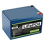 ExpertPower 12V 12Ah Lithium LiFePO4 Deep Cycle Rechargeable Battery | 2500-7000 Life Cycles & 10-Year Lifetime | Built-in BMS
