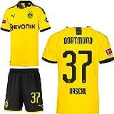 PUMA Borussia Dortmund BVB Heimset 2019 2020 Home Kit Trikot Shorts Kinder Tobias Raschl 37 Gr 176