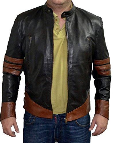 Giacca da Motociclista in Pelle Wolverine Fashion Classyak da Uomo con Stile Xmen