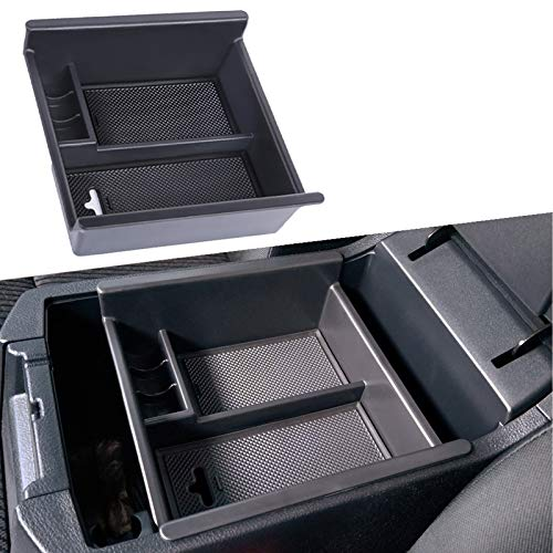 JDMCAR Center Console Organizer Compatible with Toyota 4Runner (2010-2019 2020 2021), Insert ABS Black Materials Tray, Armrest Box Secondary Storage