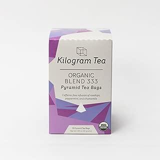 Kilogram Tea - Organic Blend 333 Pyramid Tea Bags - Caffeine Free - Sustainably Produced - 15 count box