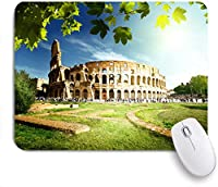 ECOMAOMI 可愛いマウスパッド イタリア、ローマのコロッセオ 滑り止めゴムバッキングマウスパッドノートブックコンピュータマウスマット