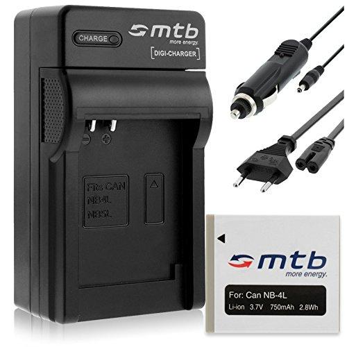 Batería + Cargador (Coche/Corriente) para Canon NB-4L / Ixus 230 HS, 255 HS. / Powershot SD780 IS, SD960 IS, TX - Ver Lista!