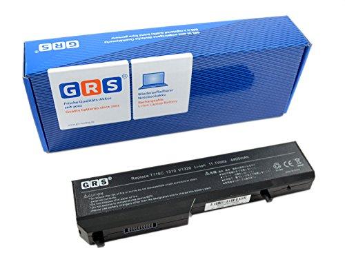 GRS Batterie 312-0724 pour Dell Vostro 1310, remplacé: K738H, T114C, Y022C, T112C, T116C, 312-0724, Y024C, 312-0725, N958C, N956C, Laptop Batterie 4400mAh, 11.1V