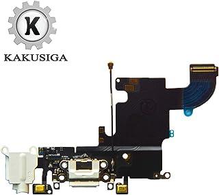 KAKUSIGA متوافق مع iPhone 6s USB منفذ شحن موصل Flex كابل + ميكروفون + سماعة رأس استبدال مقبس الصوت لـ 6s 4.7 بوصة (أبيض)