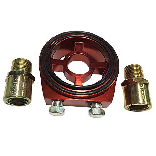 Preisvergleich Produktbild MagiDeal Ölfilter Adapter Set,  Öltemperatur,  Öldruckgeber mit 1 / 8 NPT Stecker - Rot