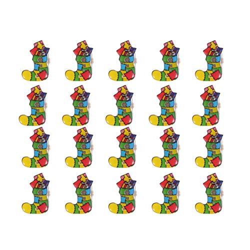 Amosfun 25 unidades de broches con luces LED de Navidad, broches esmaltados, insignias para fiestas de Navidad, regalos para niños y adultos
