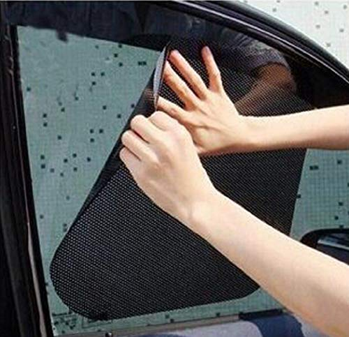 TRUE LINE Automotive Car Mesh Window Sun Visor Shade Static Cling Tint Sheet 2PC