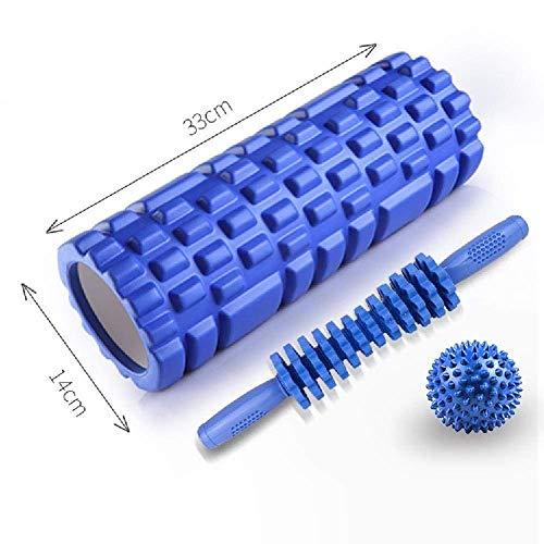 XIUYU Yoga Spalte Roller, Foam Roller, Physiotherapie Muskel-Massage-Kugel for Fersensporn Fersenschmerzen, Muskelkater, Myofascial Mitteilung, Fersensporn, Lila (Color : Blue)