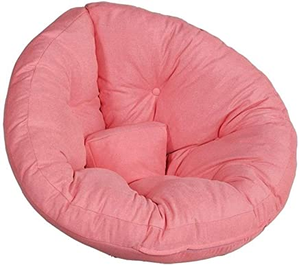 AEURX Cozy Bean Bag Chairs For Teenagers Lazy Sofa Lounger Lazy Couch Recliner Detachable Outdoor Garden Suitable For Leisure Balcony Small Sofa  Color Pink