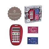 DSO ODS- Lector de Tarjetas de crédito con Accesorios, Color Rojo, 33811