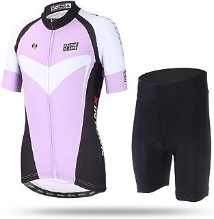 Maillot de Ciclismo Unisex para Adulto SIX2 Lilac-S Talla S