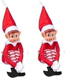 Xmas Home Décor Elf Peluche Jouets Joyeux Noël Poupée Peluche Ornement À La Main Elf Jouets Mous Filles Garçons Garçons Jo...