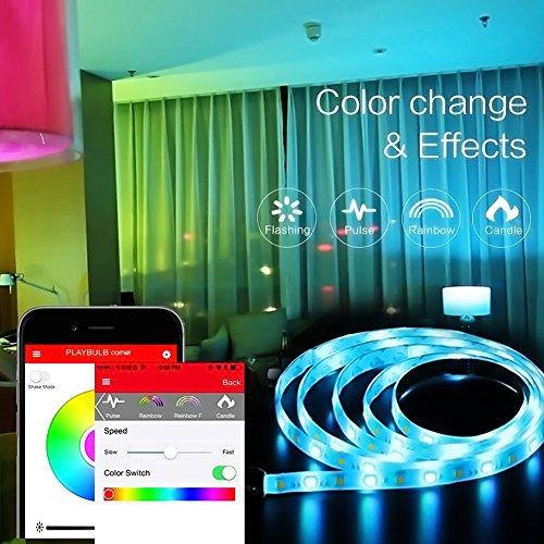 MiPow Playbulb Comet+ LED-Streifen Verlängerung (100cm) - per Bluetooth App steuerbar - Farben und Effekte