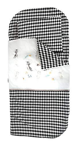 Sango Trade Schlafsack für Kinder zum Kindergarten oder Zuhause. Kleinkinderschlafsack Von 3 Bis 6-7 Jahre (Kaninchen und Waschbär)
