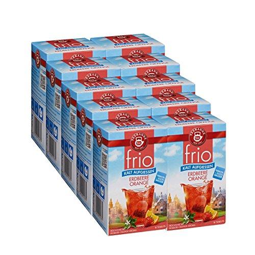 Teekanne frio Erdbeere Orange, 18 Teebeutel 10er Pack