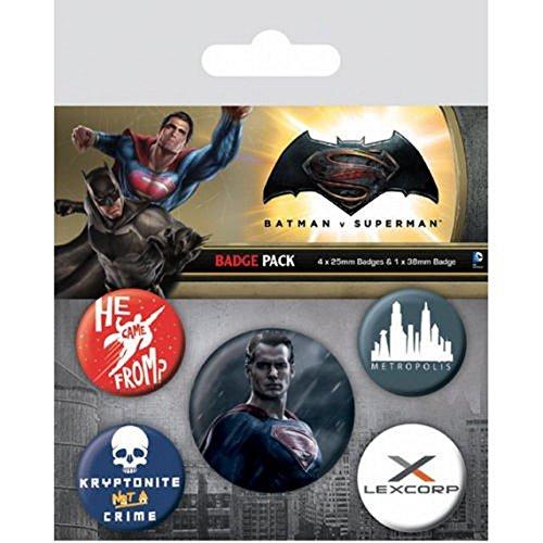 Pyramid International Badge Batman V Superman Multicolore 10 x 12,5 x 1,3 cm