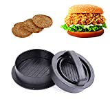 Burger Press, Kmeivol 3-in-1 Hamburger Patty Maker, Works Best for Burger Making Kit, Hamburger Patty Maker for Grilling, Dishwasher Safe, Regular Beef Burger, Kitchen & Grilling Accessories