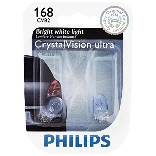 PHILIPS 168CVB2 168 CrystalVision Ultra Miniature Bulb, 2 Pack