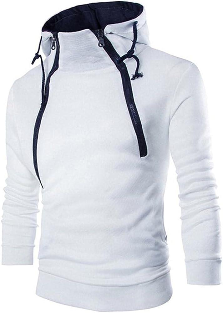 Hoodies for Mens Mens's Long-sleeve Patchwork Hoodie Hooded Sweatshirt Top Tee Outwear Mens Hoodies & Sweatshirt Blouses
