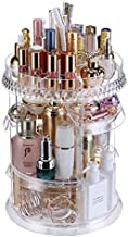 [Upgraded Design] 360 Degree Luxury Rotating Makeup/Perfume Organizer Storage Carousel-Adjustable Layers, Fits Different Containers, for vanity table, dresser, bedroom, bathroom and all!