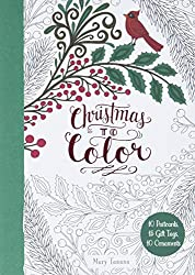 Christmas to Color Postcards Gift Tags & Ornaments by Mary Tanana