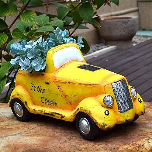 Truck Flower Herb Planter Pot Creative Solar Outdoor Garden Patio Large Decoration