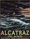 Jessgirl City Alcatraz Island Blechschild Gartenflagge für