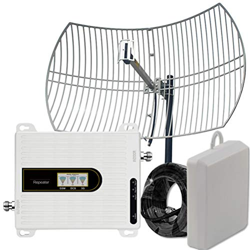 Liberación Amplificador Celular 3G 4G De 8 Km, Amplificador De Señal 4g, Amplificador De Comunicación, Repetidor De Señal, Antena De Cuadrícula De Ganancia De 22dBi