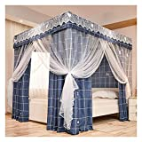 Bed Canopy Dust- Proof and Light- Proof Bunk Bed Canopy Curtain, Luxury Four- Corner Post Bed Canopy with Frame, Used for Girl Princess Room 1.5m/1.8m/ 2m Double Bed Cover