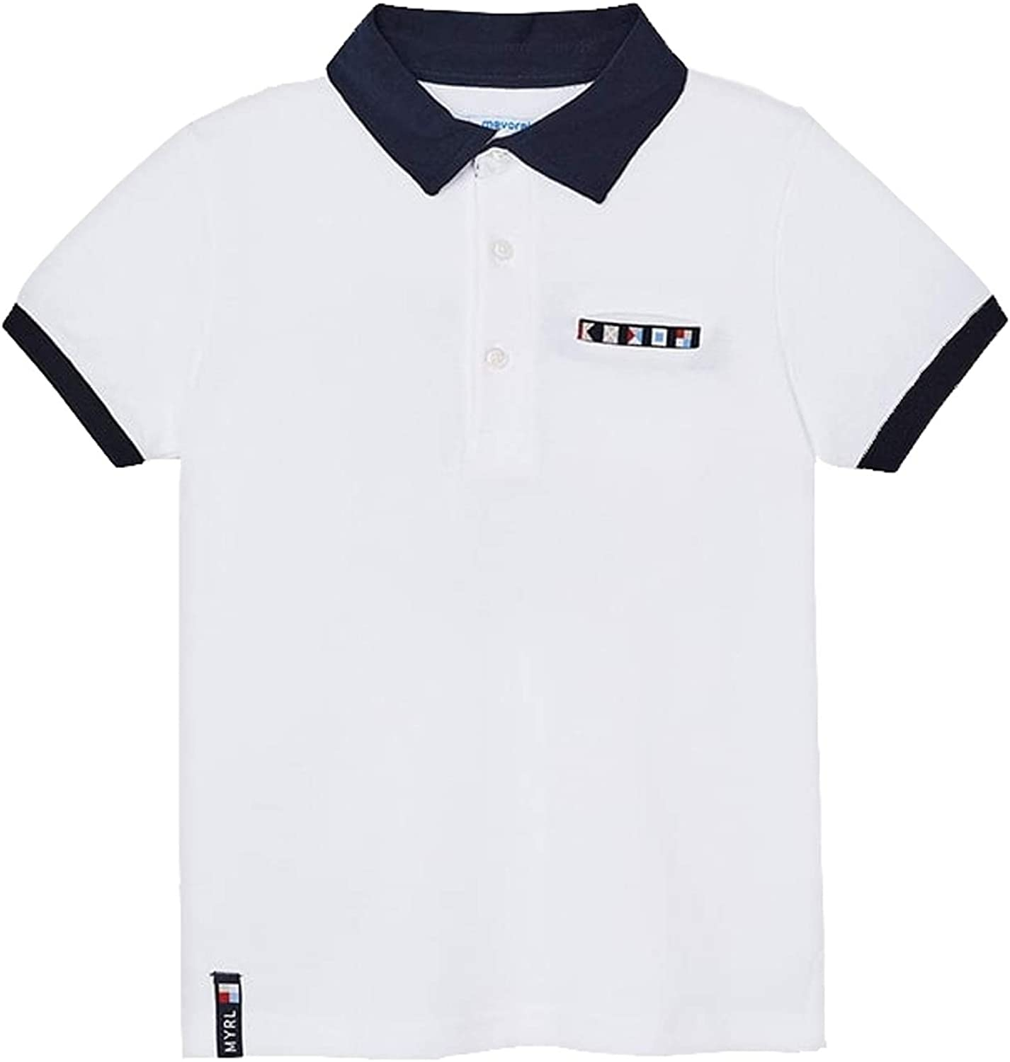 Mayoral - S/s Polo for Boys - 3104, White