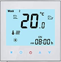 Qiumi Smart WiFi Caldera Termostato de calefacción Temperatura programable Controlador táctil Termorregulador 5A 95-240V, ...