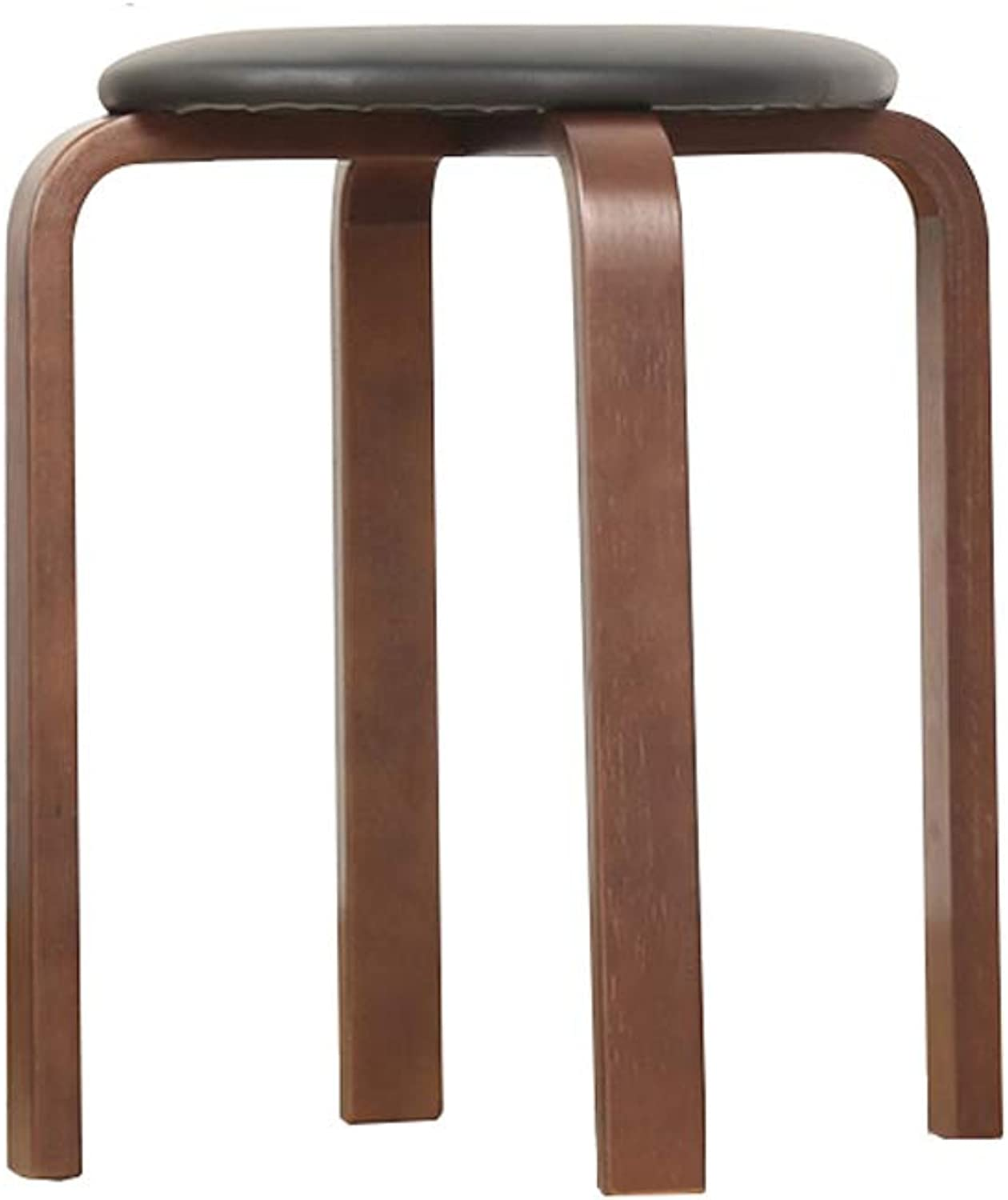 CQ Solid Wood Stool Stool Creative Stool Home Adult Wood Small Bench Modern Minimalist Wooden Stool (color   Black)