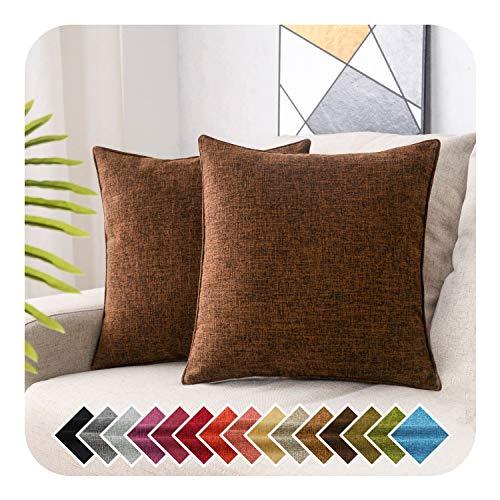 HPUK - Juego de 2 fundas de almohada decorativas, color sólido, funda de almohada para sofá, dormitorio, coche, oficina, decoración de vacaciones, 17 x 17 pulgadas