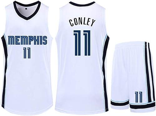 Grizzlies Conley 11 De Haute Qualité Basketball Jersey Uniforms Sports Chemises De Basket-Ball Cousu Hommes T-Shirt Jackson 13,blanc(11)-XXXL