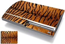 Bundle Monster Vinyl Skins Accessory For Sony Playstation PS3 Game Console - Cover Faceplate Protector Sticker Art Decal - Tiger