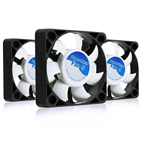 AABCOOLING Super Silent Fan 5 - Un Silencioso y Muy Efectivo Ventilador 50mm para Impresora 3D, Fan Cooler, Ventilador Laptop 5cm, Base Ventilador, 14,45m3/h, 3500 RPM - 3 Piezas 17,5 dB