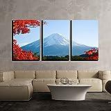 wall26 - 3 Piece Canvas Wall Art - Mt.Fuji in...