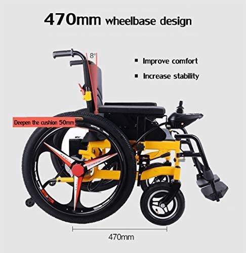 51EGi2wYD7L - Sillas de ruedas HYL-silla de ruedas eléctrica Luz silla de ruedas plegable portátil de energía de parasitismo - 24 Inchs Silla de ruedas eléctrica for los ancianos, discapacitados y hemiplejía pacien
