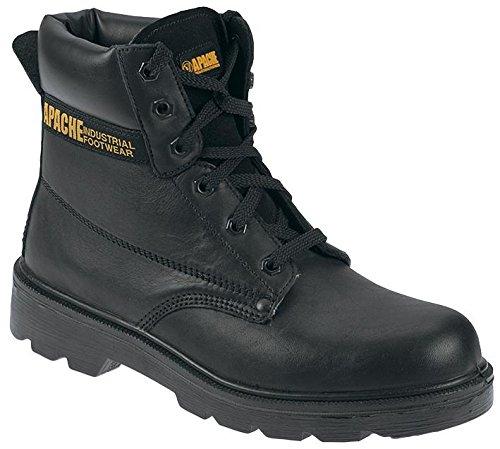 APACHE AP300 10 - Botas de seguridad, 15,2 cm, color negro, 10