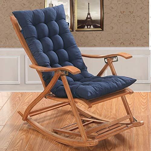 Zonneligstoel, kussen, patio-tuin-ligstoel met verstelbare rug, lounge, dikke pad, zitplaatsen buitenshuis, voor op reis, feestdagen (stoel is niet inbegrepen)